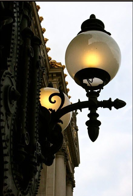 opera garnier lamp in paris