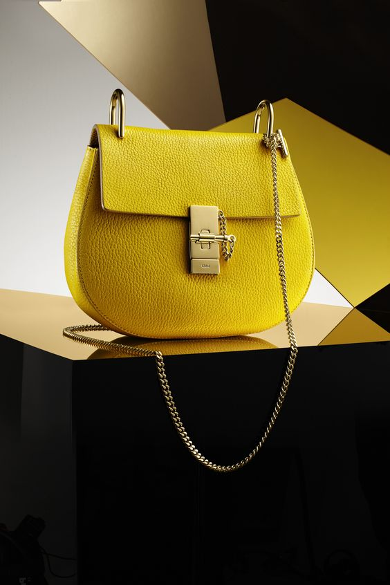 chloe designer bags - Brighten up your winter with Chloe's neon yellow leather Drew mini ...