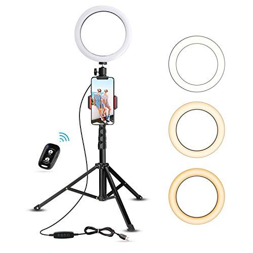 8 Selfie Ring Light With Tripod Stand Cell Phone Holder Now 23 08 Was 39 99 In 2020 Selfie Ring Light Cell Phone Holder Phone Tripod