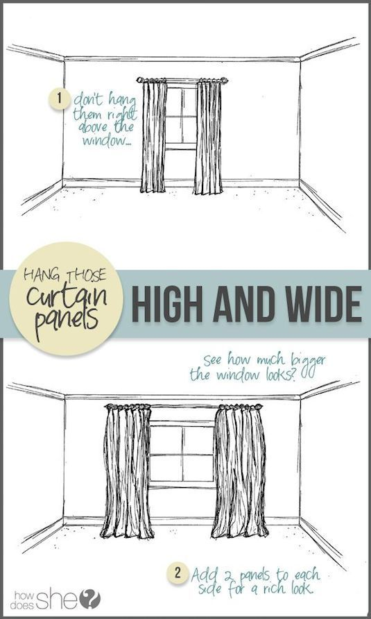 The easiest way to up the look of your room? Up the height of your curtains!