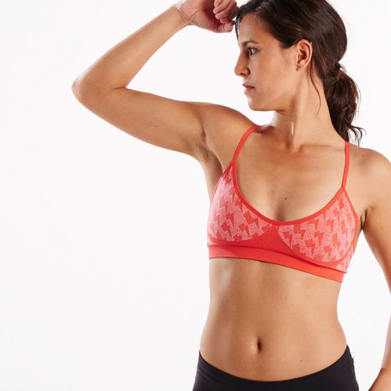 The bolt bra is your most comfortable, every day bra. Built for all day wear, this lightweight seamless sports bra keeps you supported and in style with a unique lightning bolt print.