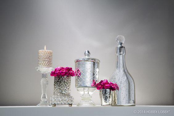 Simple Blumen deko in Vasen