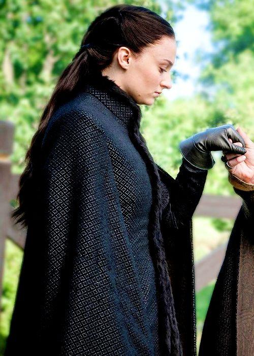 Sansa manteau noir
