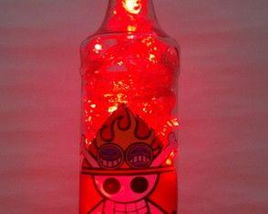 Luminária de garrafa Pirata