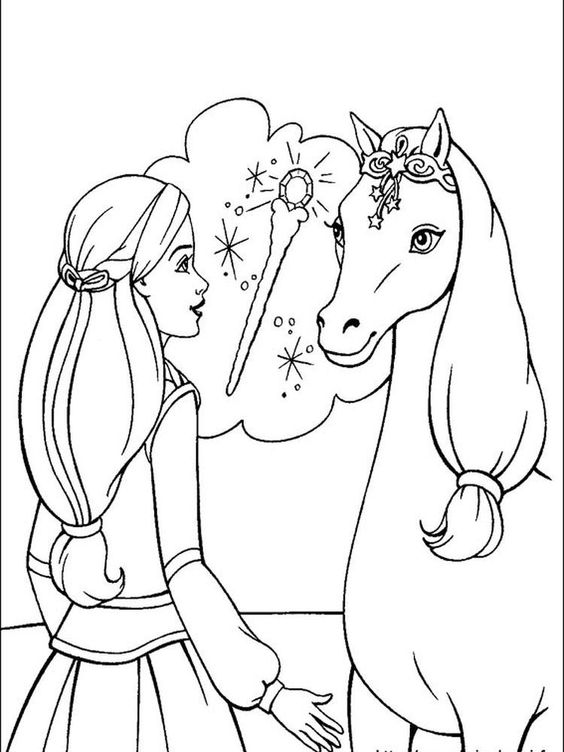 Barbie Dreamhouse Adventures Coloring Pages You Can Ask All Girls In The World Who Doesn T Kn In 2021 Unicorn Coloring Pages Barbie Coloring Pages Horse Coloring Pages
