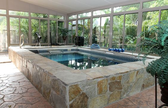 Pinterest the world s catalog of ideas for Natural stone around pool