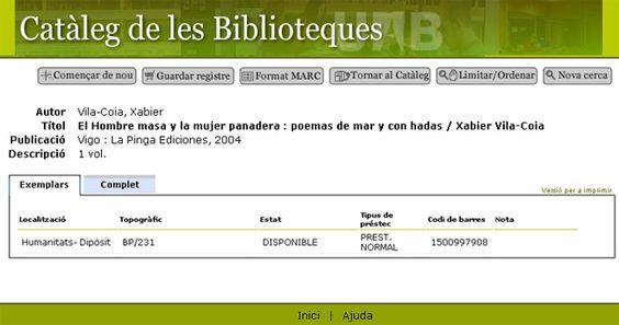 """""""El Hombre Masa y la Mujer Panadera en la Biblioteca de la Universitat  Autónoma de Barcelona."""