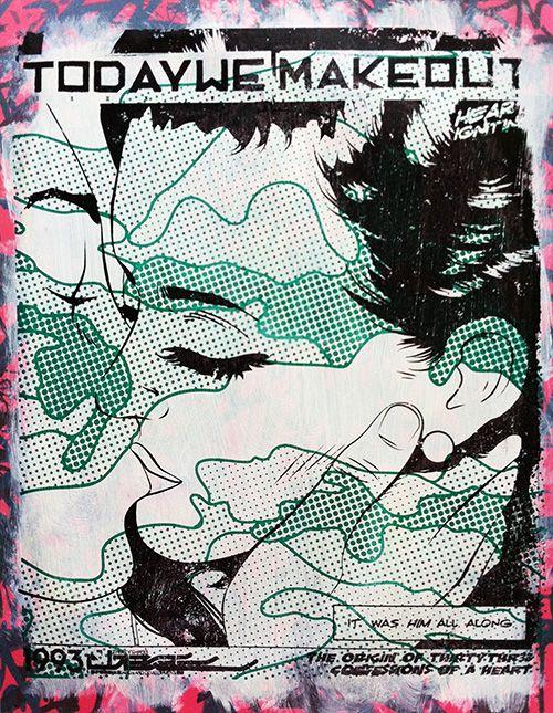 #popart retro comic #illustration #design #silkscreen #screenprint