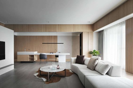 Slick contemporary apartment located in Taipei, Taiwan recently designed by C.H. Interior Design.