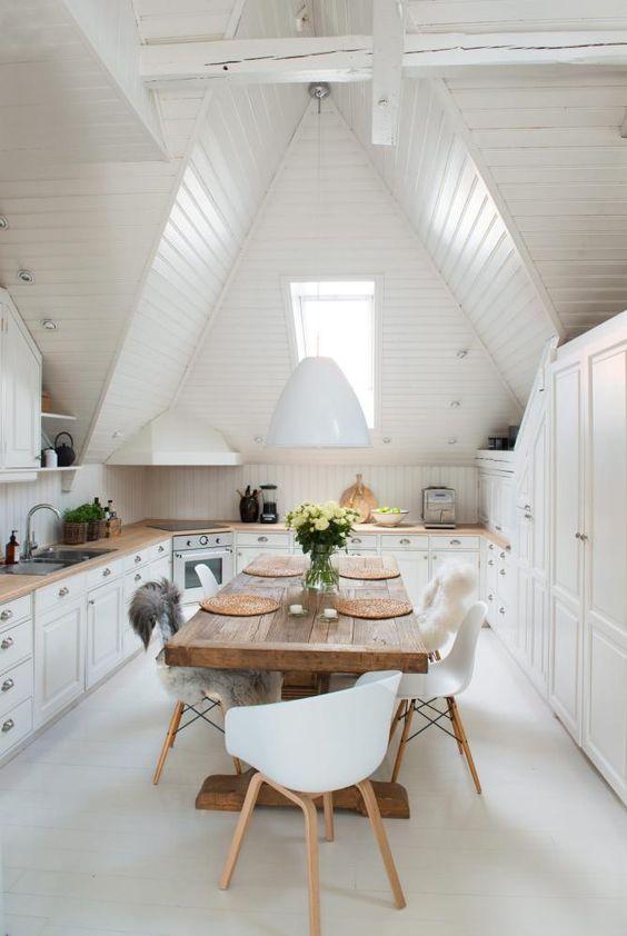 Tables et dîner - La touche d'Agathe - Dining, chair, chaise, table, salle à manger, dining room fur fourrure scandinave