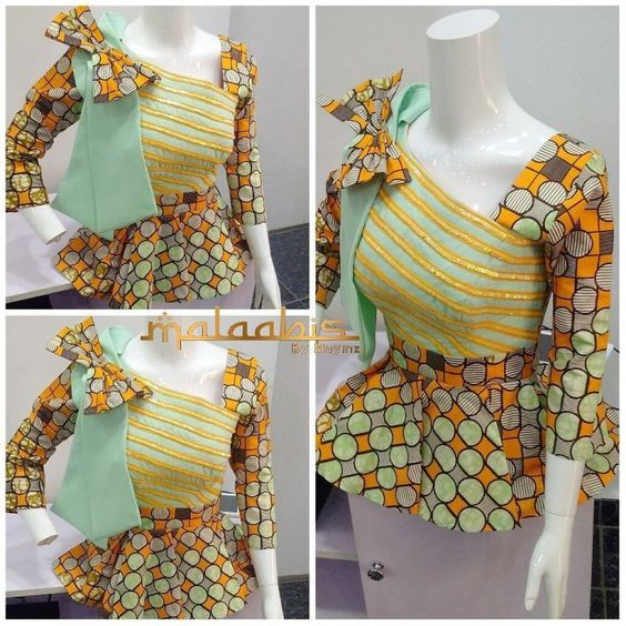 13 Beautiful Ankara Peplum Tops Nigerian Fashion You Choose From With Images Ankara Peplum Tops African Fashion High Fashion Street Style