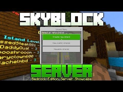 New Skyblock Server On The Bedrock Edition Of Minecraft