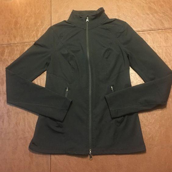 Zella Zella brand zip up active jacket in black. Veryyyyy gently worn & washed. Has thumbholes  amazing Zella Jackets & Coats