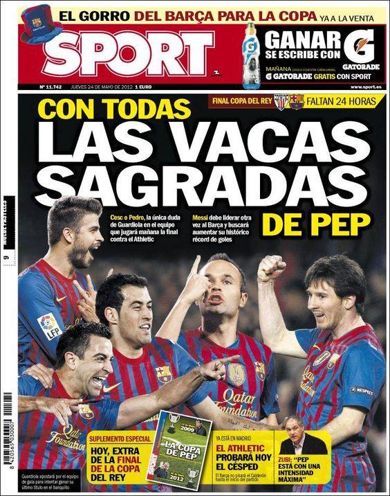 Prensa deportiva del 24 de mayo 2012