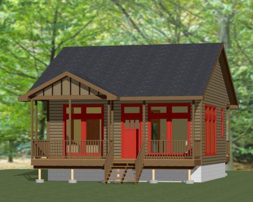 26x26 House 26x26h1b 1 Bedroom 1 Bath Home Sq Ft 676 Building Size 26 0 Wide 48 0 Deep Main Roof Pitch Floor Plans House Tiny House Floor Plans