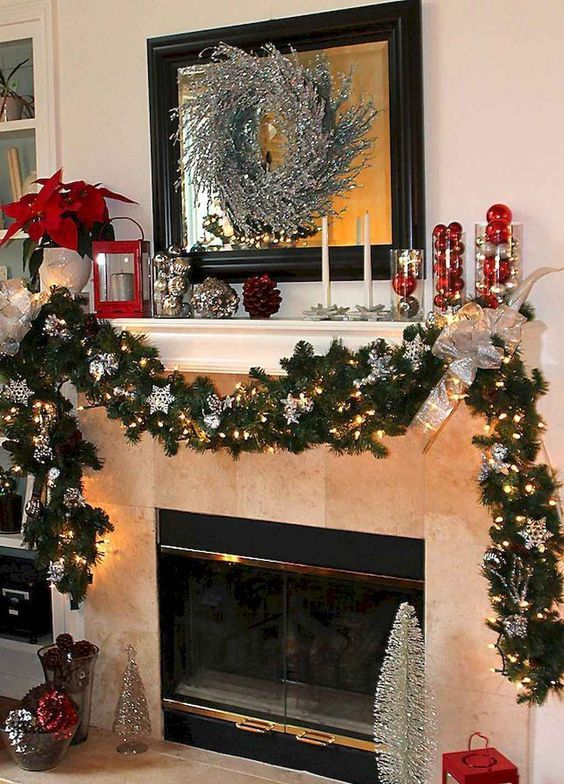 Christmas Living Room Ideas 25 Easy Admirable Decor To Steal Now Rustic Christmas Mantel Diy Christmas Fireplace Christmas Fireplace Decor