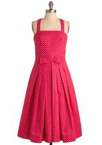 Modcloth - Pleased to See You Dress in Berry