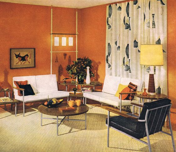 Classic early 60 39 s living room mid century modern for Interior design 75063