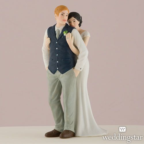 A Sweet Embrace – Bride Embracing Groom Couple Figurine - Weddingstar