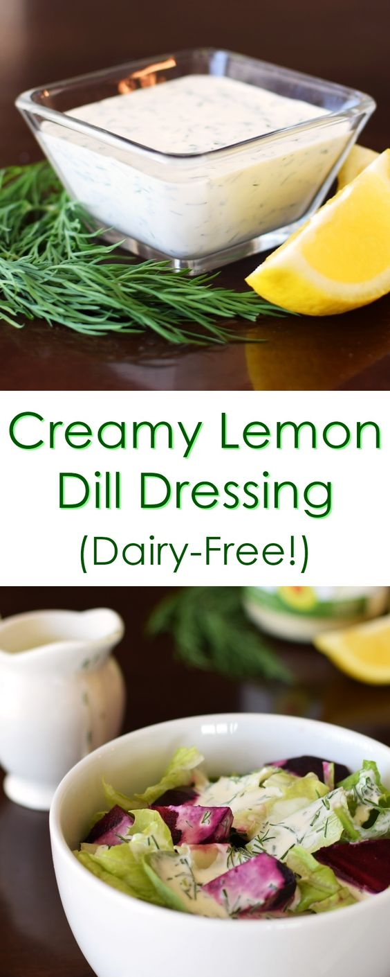 Creamy Dill Dressing Recipe - quick, dairy-free and optionally paleo