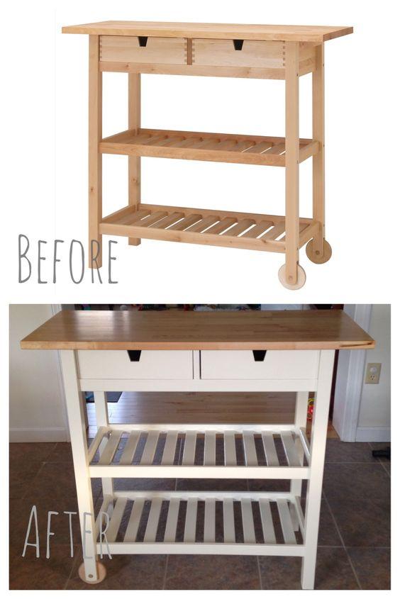 i customized this ikea f 214 rh 214 ja kitchen cart and custom ikea forhoja kitchen cart that i painted with miss mustard