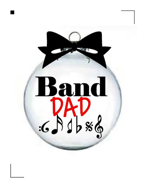 Marching Band Christmas Ornaments Part - 23: Christmas Ornament For A Band Dad, Marching Band Dad On Etsy, $10.00