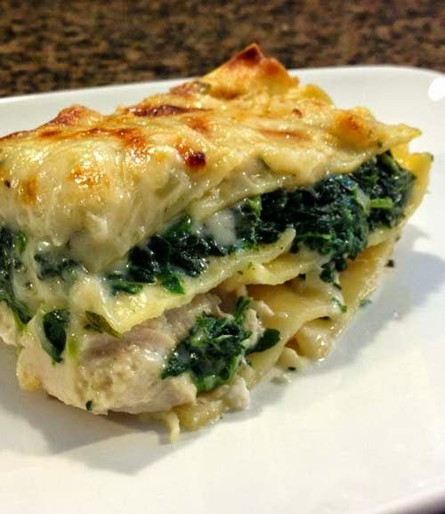 Simple Recipe for Chicken and Spinach Lasagna in White Sauce - Food ...