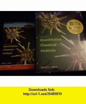 Quantitative Chemical Analysis Loose Leaf Ebook Access Card