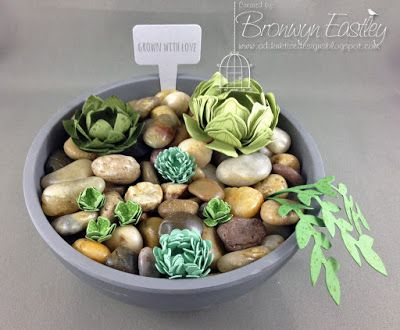 addINKtive designs: Paper Succulents made from Stampin' Up! Punches an...