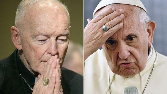 El papa Francisco apartó de sus funciones al arzobispo emérito de Washington Theodore McCarrick, acusado de abusos sexuales