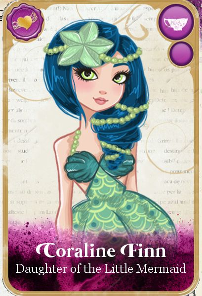 Ever after high card coraline finn animated by for The book of life characters names