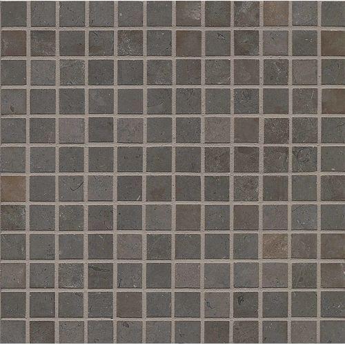 Vogue Brown Brushed 1 X 1 Floor Wall Mosaic Decorative Tile Decor Mosaic Tiles