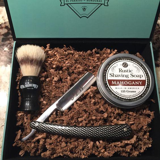 Straight Blade, Shaving Soap, Custom Box, Groomsmen Gift