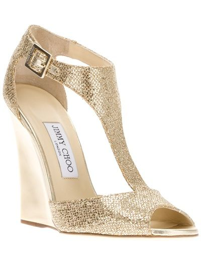 Melaney-II Open Toe Wedge I wore these beautiful gold wedges once ...
