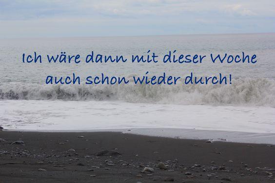 #Zitate #Woche #Sprüche #Motivation #Meer