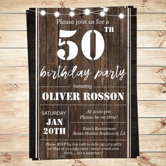Printable 50th birthday invitations templates Printable Milestone – Printable 50th Birthday Invitations Templates