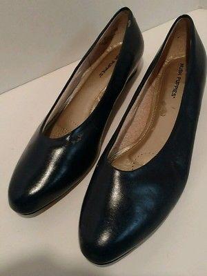 Womens Dress #shoes by #HushPuppies Low Navy Size 12 M Medium Church Work #trans…