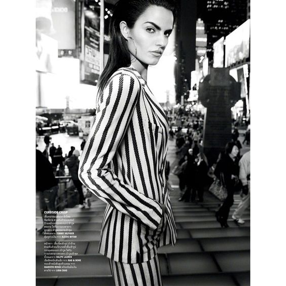 Simon Cave Captures Liza Golden in the Big Apple for Vogue Thailand... ❤ liked on Polyvore