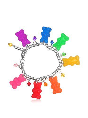 KanDi Jewelry Gummy Bear Candy Charm Bracelet