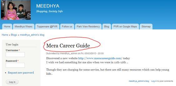 User appreciating MeraCareerGuide on their website - livecareer login