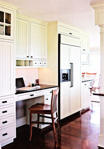 Kitchen Desk Areas Desks In White Workstation Cabinets With