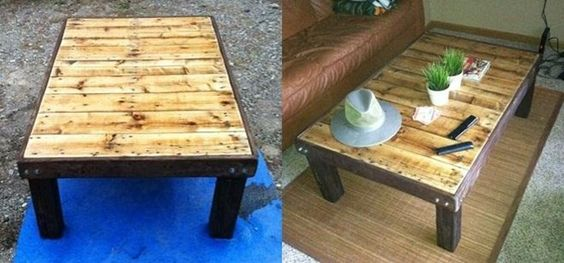 How to make a super cheap coffee stained wood pallet for What to make out of those old wood pallets