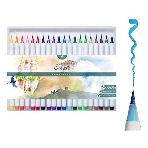 Mozart Supplies Set Multicolor De Rotuladores Con Punta De Pincel