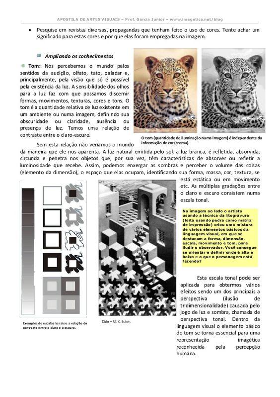 Apostila De Artes Visuais Revisada E Ampliada 2014 Atividades