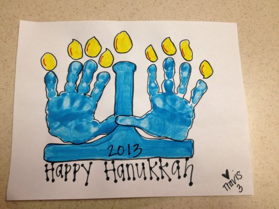 Menorah activities for kids and homemade art on pinterest for Menorah arts and crafts