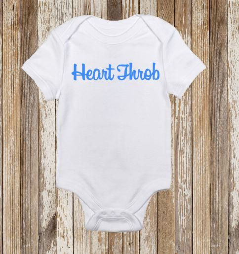 Heart Throb Baby Onesie Toddler Shirt Vinyl by CountryHeartDesignz