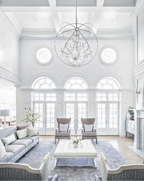 Top 70 Best Crown Molding Ideas Ceiling Interior Designs Living Room Designs Living Room Lighting Interior Design