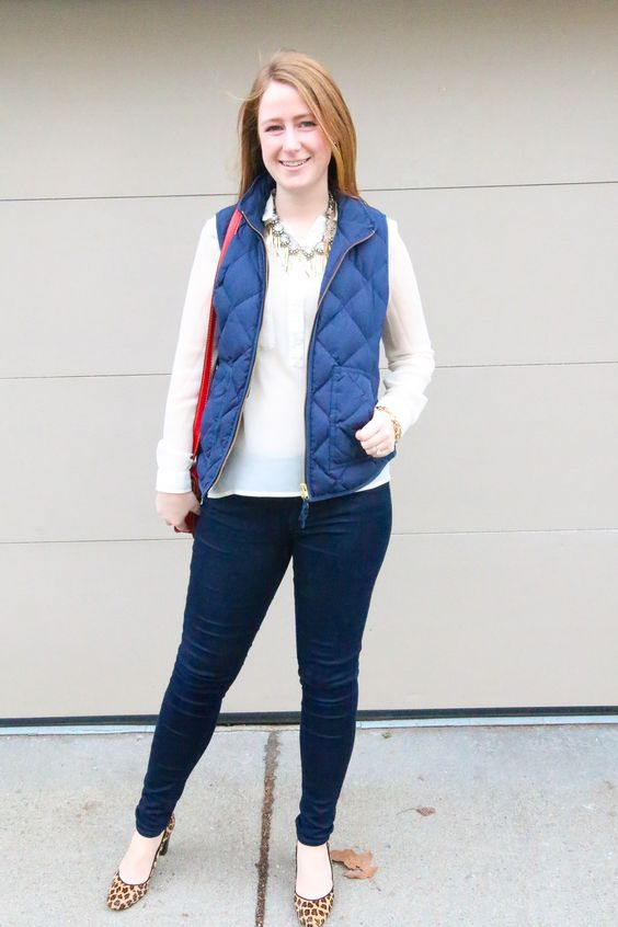 puffy vest dressed up