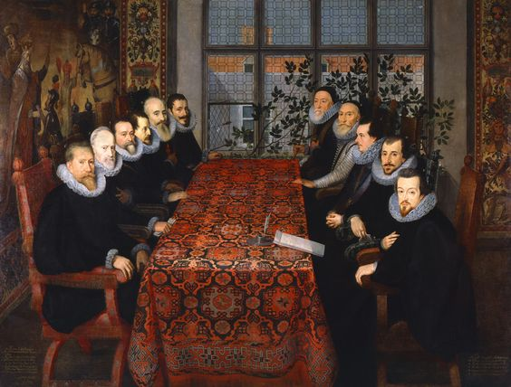 Unknown artist, The Somerset House Conference, ?1604, Oil on canvas, National Portrait Gallery, London