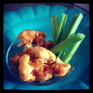 Spicy Buffalo Cauliflower... #vegan #gluten free